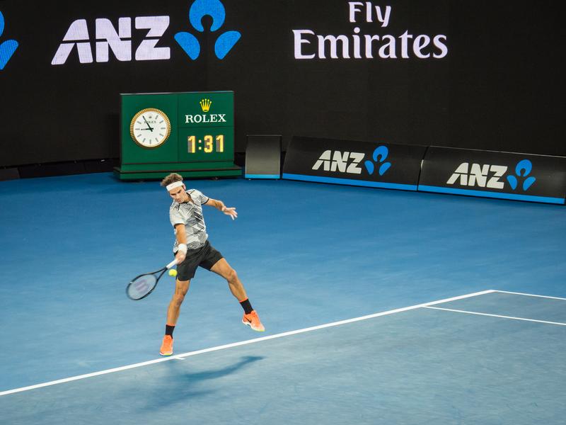 Roger Federer at the Australian Open 2017
