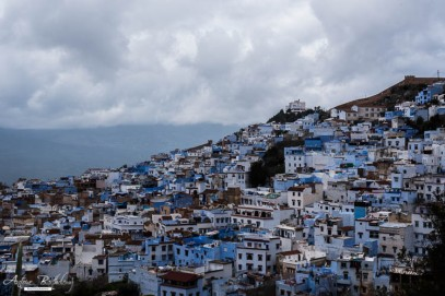 panoramic view Chefchaouen Morocco