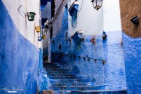 blue walls in streets of chefchaouen