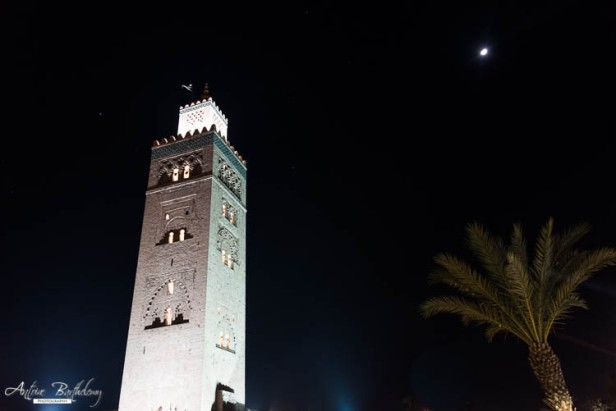 Mosque Koutoubia at night in Marrakesh