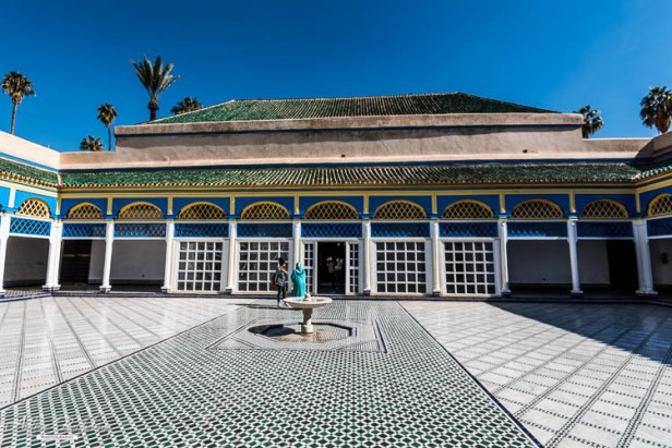 Bahia palace main court - Marrakesh