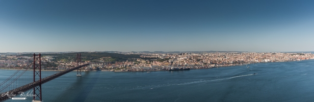 Christ Rei panoramic view of Lisbon