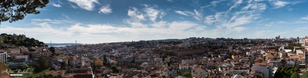 Miradouro da Graça panoramic view Lisbon
